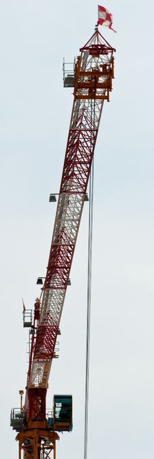 Free A Single Tower Crane Royalty Free Stock Photography - 15497927