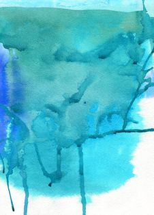 Free Abstract Watercolor Background Royalty Free Stock Photography - 15497987
