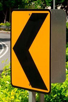 Sharp Left Turn Traffic Sign Stock Photos