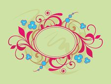 Banner With Floral Elements Stock Photos
