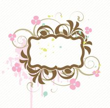 Banner With Floral Elements Stock Images