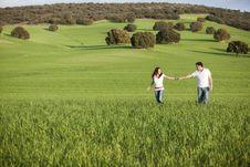 Free Couple On Meadow Royalty Free Stock Photos - 15498218