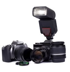 Digital And Film Camera Royalty Free Stock Image