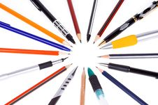 Free Pens And Pencils Royalty Free Stock Images - 15498379