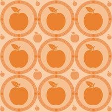 Cute Seamless Apple Texture Stock Photos
