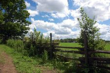 Free Clouds Over A Fenced In Pasture Stock Photos - 15498733