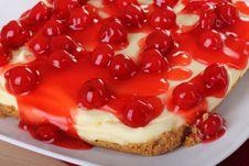 Free Cherry Cheesecake Stock Photography - 15498902
