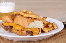 Free Roast Beef And Cheese Sandwich Royalty Free Stock Photo - 15498955