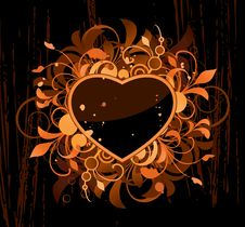 Free Heart With Design Elements Royalty Free Stock Photo - 15498975