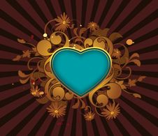 Free Retro Abstract With Heart Royalty Free Stock Images - 15498999