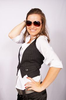 Free Businesswoman In Sunglasses Stock Image - 15499001