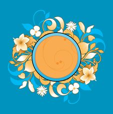 Free Frame With Floral Elements Royalty Free Stock Photography - 15499147