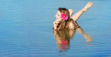 Attractive Woman In Water Stock Images