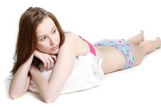 Free Attractive Woman In Bed Stock Image - 15499481