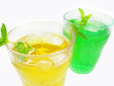 Green And Yellow Lemonade Royalty Free Stock Photos
