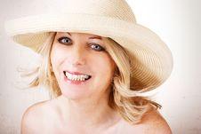 Free Woman Wearing Hat Royalty Free Stock Photos - 15499868