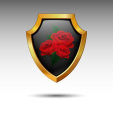 Free Shield. Vector. Royalty Free Stock Photo - 15499905