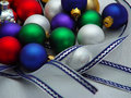 Free Colored Ornaments And Ribbon Stock Photo - 1556080