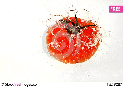 Free Tomato Splashing In Water Royalty Free Stock Photography - 1559087