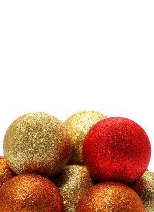 Vertical Christmas Balls Royalty Free Stock Photo