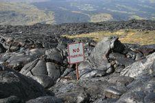 Free Hawaiian Island Lava Field Stock Photography - 1555072