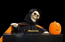 Free Ghoul Playing A Piano - Isolated Royalty Free Stock Image - 1555616