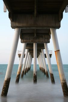 Free Under The Pier Royalty Free Stock Images - 1557539