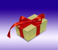 Free Gift With Red Ribbon Stock Image - 1558071