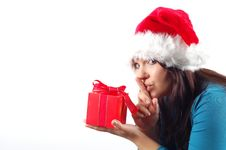 Free Woman With Gift 11 Stock Photo - 1558830