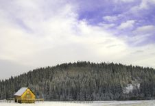 Foothills Cabin Royalty Free Stock Photo