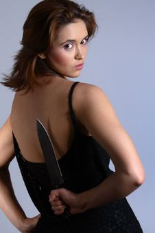 Free Domestic Violence Hide Knife Royalty Free Stock Photography - 1559327