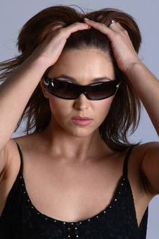 Free Model With Sunglasses Royalty Free Stock Photos - 1559348