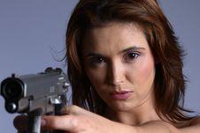Model With Gun Stock Photos