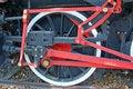 Free Ingenious Mechanism At Locomotive Wheels Stock Photos - 15502933