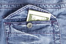 Free Money In Your Pocket Stock Image - 15500731