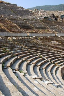 Free Detail Of The Ancient Theater In Ephesus Stock Photo - 15500890