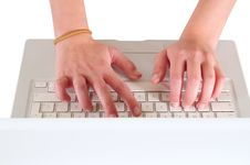 Free Typing On Pc. Isolated Stock Images - 15501344