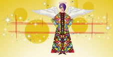 Free Stained Glass Angel With Wings Royalty Free Stock Photo - 15501915