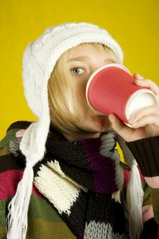 Free Coffee Girl Royalty Free Stock Photo - 15502165