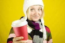 Free Coffee Girl Stock Photos - 15502183