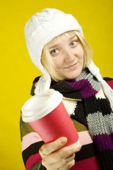 Free Coffee Girl Stock Photography - 15502212