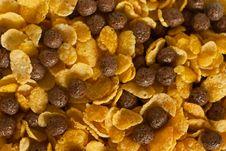 Free Cornflakes And Cocoa Balls Stock Photo - 15502380