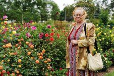 Free Happy Senior Lady Royalty Free Stock Photography - 15502597