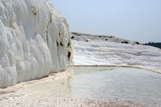 Free Lake On Sunny Terrace In Pamukkale Stock Photography - 15502642