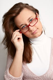 Free Girl With Glasses Stock Image - 15502711