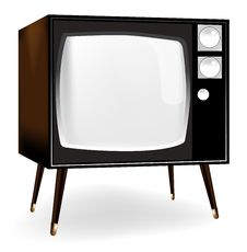 Free Stylish Vintage TV Icon Stock Images - 15502734