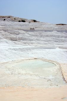 Pamukkale: Panorama With Calcium Relief Royalty Free Stock Photo