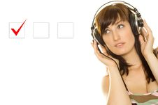 Free Young Woman Makes A Choice Stock Photography - 15503202