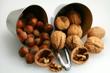 Free Basket Of Walnuts And Hazelnuts Stock Images - 15503474