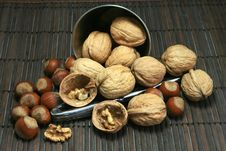 Free Basket Of Walnuts And Hazelnuts Stock Photos - 15503503